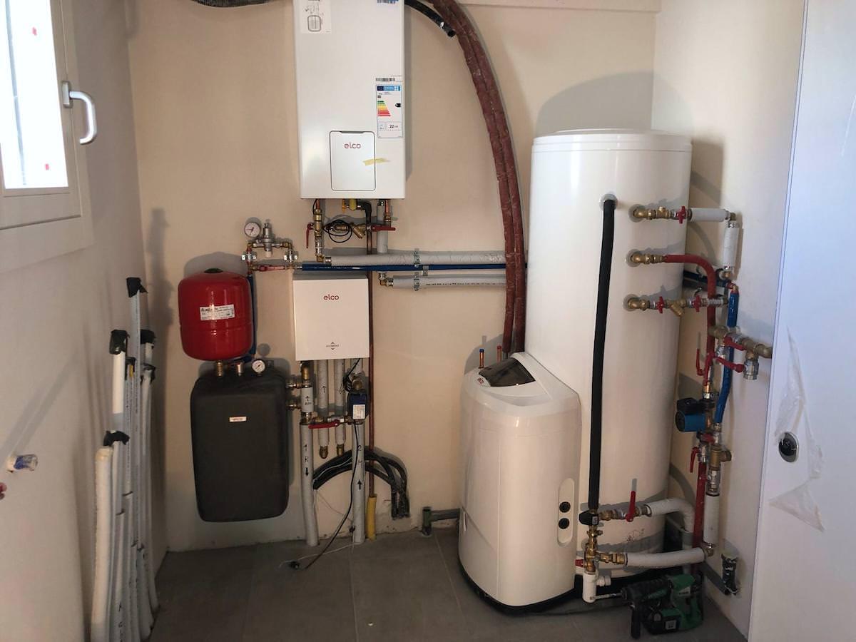 Pompa Di Calore Per Bagno sistema ibrido caldaia e pompa di calore - diagonal